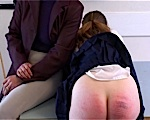 Two girls at school get spanked and humiliated for bad behavior